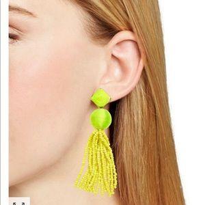 NWT Baublebar AzuraYellow Tassle Drop Earrings